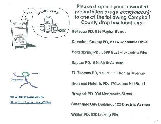 unwanted prescription drug drop off