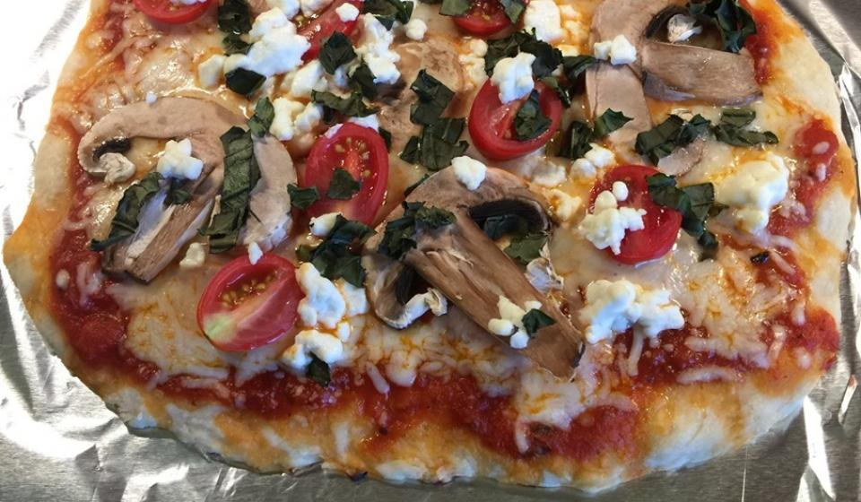 Delicious pizza made at the Mommy and Me program