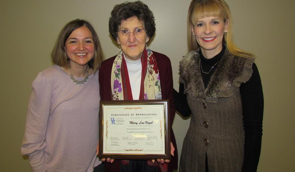 Family and Consumer Sciences Volunteer of the Year Award