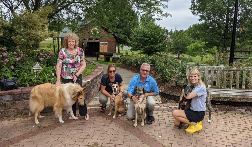 """Fun at """"Paws in the Garden"""" hosted by Ronda for the Campbell County Office Staff"""